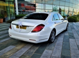 White Mercedes for weddings in London